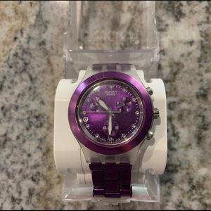 Swatch Accessories - Swatch Full-Blooded Blueberry unisex watch